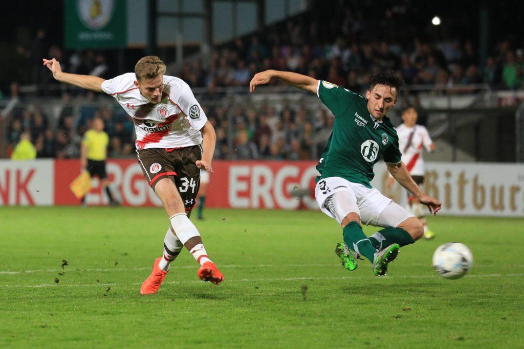 Der gerade erst eingewechselte Marvin Knoll erzielt das 3:0 gegen den VfB Lübeck. FOTO: Imago