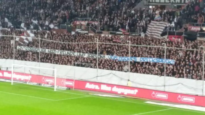 """""""Verlogenes Dreckspack!"""" Übler Gruß der St. Pauli-Fans an den HSV"""
