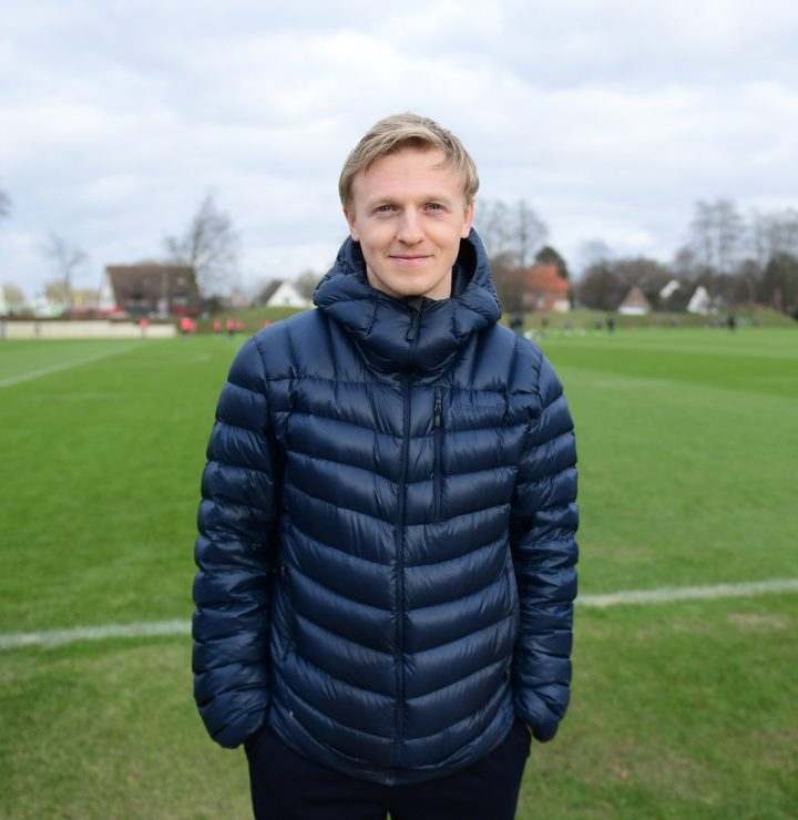 Überraschung! Mats Möller Daehli beim Training des FC St. Pauli