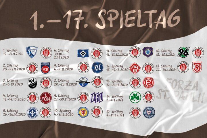 Spielplan: Alle Ansetzungen des FC St. Pauli in der Hinrunde