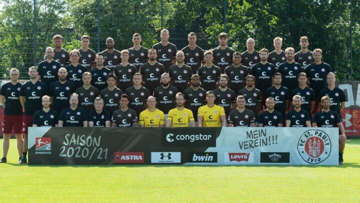 Neues Mannschaftsfoto: Das ist St. Paulis Kader zur Saison 2020/2021